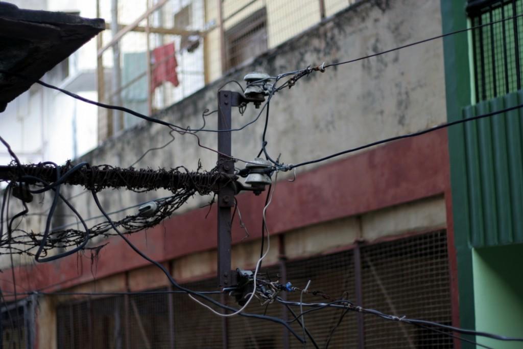 электричество, проводка, варанаси, улица